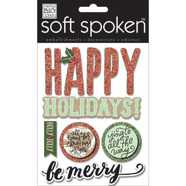 Soft Spoken Themed Embellishments-Jingle All The Way