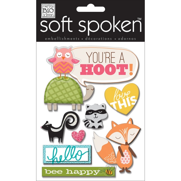 Soft Spoken Themed Embellishments-You're A Hoot