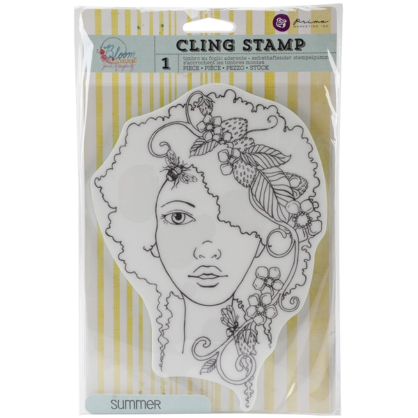 "Bloom Cling Rubber Stamps 8""X6""-Summer"