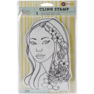 """Bloom Cling Rubber Stamps 8""""X6""""-Jing"""