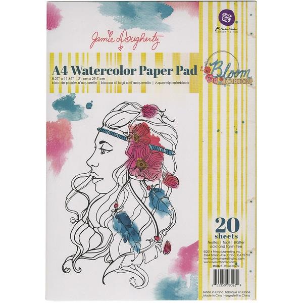 Bloom A4 Paper Pad 20/Sheets-Watercolor