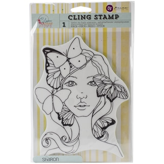 """Bloom Cling Rubber Stamps 8""""X6""""-Sharon"""