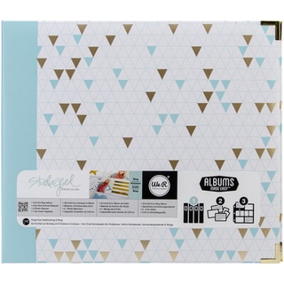 "Teresa Collins Albums Made Easy 3-Ring Album 12""X12""-Triangle"