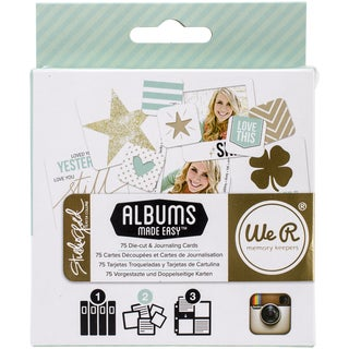 Teresa Collins Albums Made Easy Journaling Cards-Studio Gold