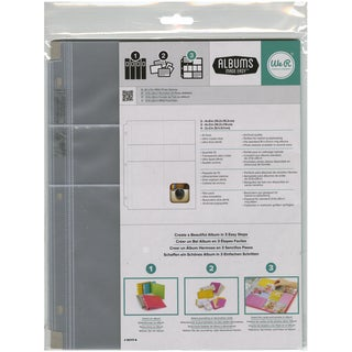 "Ring Photo Sleeve Protectors 8.5""X11"" 10/Pkg-(2) 4""X3"", (4) 2""X2"" & (2) 4""X6"" Pockets"