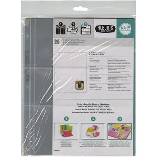 "Ring Photo Sleeve Protectors 8.5""X11"" 10/Pkg-(4) 4""X4"" & (2) 4""X3"" Pockets"