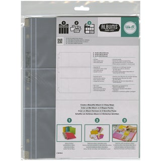 "Ring Photo Sleeve Protectors 8.5""X11"" 10/Pkg-(2) 2""X4"", (2) 6""X4"" & (2) 4""X3"" Pockets"