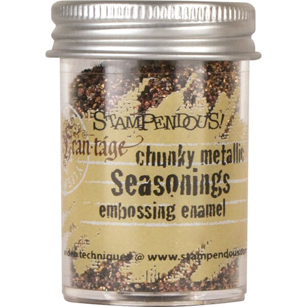 Stampendous Seasonings Embossing Enamel .63oz -Chunky Metallic