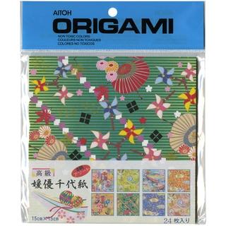 "Origami Paper 5.875""X5.875"" 24/Pkg-8 Patterns Himeyu Chiyogami"
