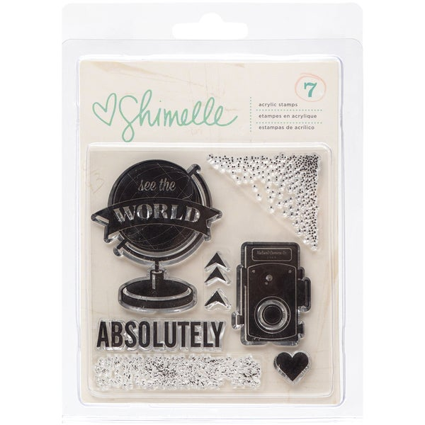 Shimelle Clear Acrylic Stamps-See The World