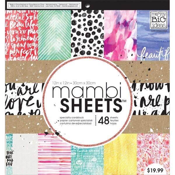 """Mambi Paper Pad 12""""X12"""" 48/Pkg-Paint Palette"""