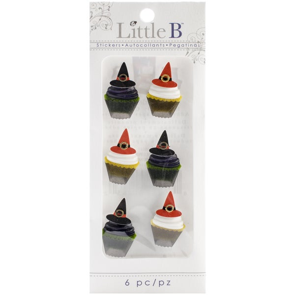 Little B Mini Stickers-Witch Cupcakes