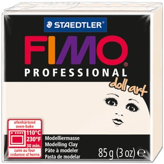 Fimo Professional Doll Art Clay 3oz-Porcelain Semi-Opaque