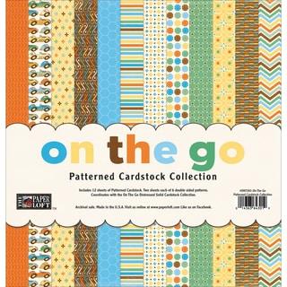 "The Paper Loft Cardstock Pack 12""X12"" 12/Pkg-On The Go Patterned"