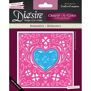 Die'sire Create-A-Card Cutting & Embossing Die-Romance