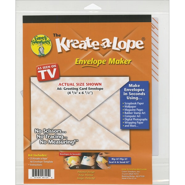 Kreate-A-Lope Envelope Template-A6 Liner