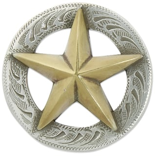 3D Texas Star Concho with Screwback