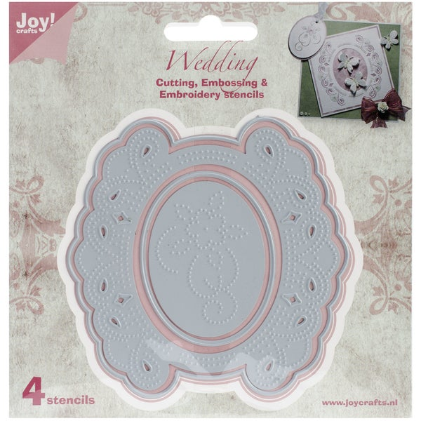 "Joy! Crafts Cut, Emboss & Debossing Die-Circle Floral Frame, 1.625"" To 4"""