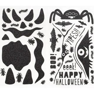 Pumpkin Stickers-Monsters Glittered