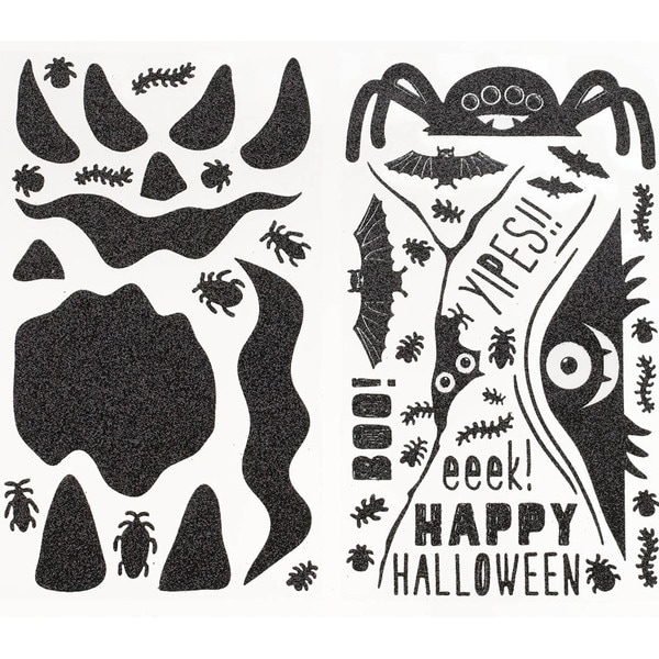 Pumpkin Stickers-Monsters Glittered