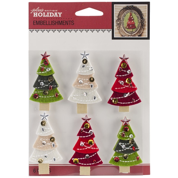 Jolee's Christmas Stickers-Christmas Trees