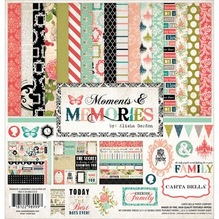 "Carta Bella Collection Kit 12""X12""-Moments & Memories"