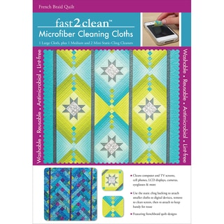 fast2clean Microfiber Cleaning Cloths-French Braid Quilt 4/Pkg