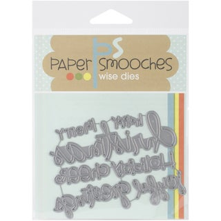 Paper Smooches Die-Christmas Words