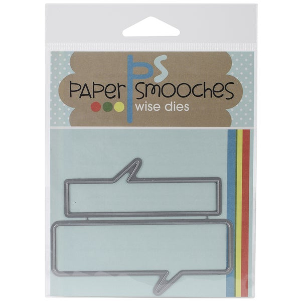 Paper Smooches Die-Speech Bubble