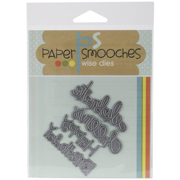 Paper Smooches Die-Birthday Words