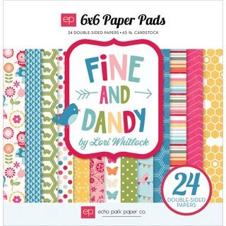 """Echo Park Paper Pad 6""""X6"""" 24/Pkg-Fine & Dandy"""