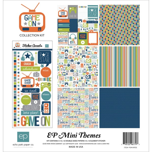 "Echo Park Collection Kit 12""X12""-Game On"