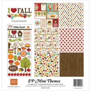 """Echo Park Collection Kit 12""""X12""""-I Heart Fall"""