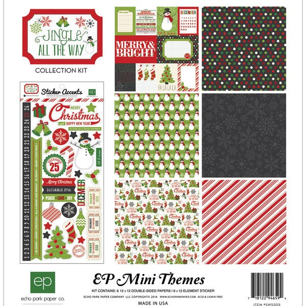 "Echo Park Collection Kit 12""X12""-Jingle All The Way"