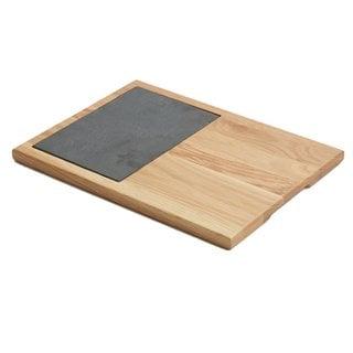 Woodard & Charles WTO495 Oak Wood Slate 14-Inch Cheese Board