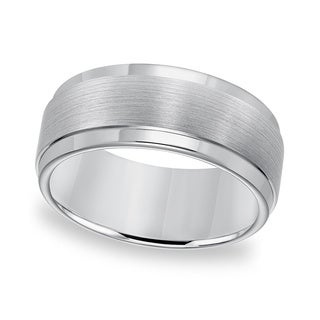 Cambridge Tungsten Carbide Edge Step Comfort Fit Ring