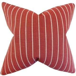 Yehudah Red Stripes 18-inch Feather and Down Filled Pillow