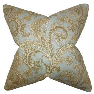 Hazaiah Floral 18-inch Feather and Down Filled Decorative Pillow