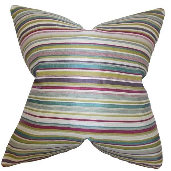Karsten Stripes 18-inch Feather and Down Filled Decorative Pillow