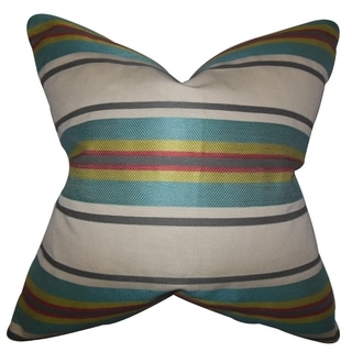 Osric Stripe 18-inch Feather and Down Filled Decorative Pillow