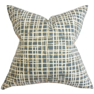 Onslow Plaid 18-inch Feather and Down Filled Decorative Pillow