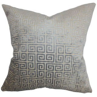 Leif Geometric 18-inch Feather and Down Filled Decorative Pillow
