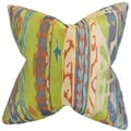 Ogun Ikat 18-inch Feather and Down Filled Decorative Pillow