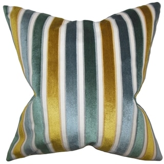 Alton Stripes 18-inch Feather and Down Filled Decorative Throw Pillow
