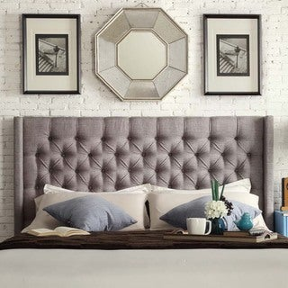 INSPIRE Q Naples Wingback Button Tufted Upholstered King-Sized Headboard