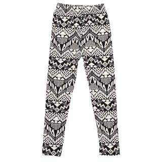 Hailey Jeans Co. Girl's Soft Geometric Print Leggings