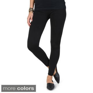 Hailey Jeans Co. Junior's Solid Color Fleece Lined Leggings