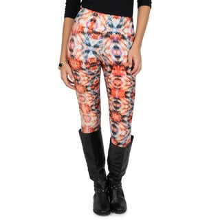 Journee Collection Junior's Soft Abstract Print Leggings