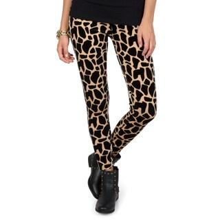 Hailey Jeans Co. Junior's Velvety Animal Print Leggings