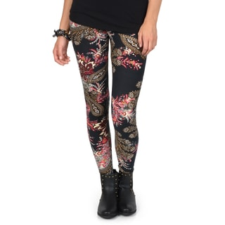 Hailey Jeans Co. Junior's Soft Paisley Print Leggings